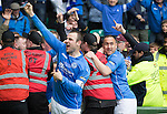 St Johnstone v Dundee United....17.05.14   William Hill Scottish Cup Final<br /> Dave Mackay punches the air with delight after Steven MacLean gave St Johnstone a two nil lead<br /> Picture by Graeme Hart.<br /> Copyright Perthshire Picture Agency<br /> Tel: 01738 623350  Mobile: 07990 594431