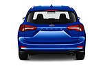 Straight rear view of a 2018 Ford Focus Clipper Titanium Business 5 Door Wagon stock images