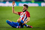 Yannick Ferreira Carrasco of Club Atletico de Madrid sits on the pitch in pain during their La Liga match between Club Atletico de Madrid and Malaga CF at the Estadio Vicente Calderón on 29 October 2016 in Madrid, Spain. Photo by Diego Gonzalez Souto / Power Sport Images