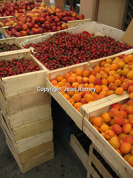 Cherries and peaches are plentiful in Provence's rich orchards