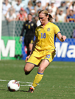 Frida Oestberg, Germany 2-1 over Sweden at the  WWC 2003 Championships.