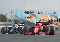 8th October 2021; Formula 1 Turkish Grand Prix 2021 free practise at the Istanbul Park Circuit, Istanbul;  Carlos Sainz Jr. ESP 55, Scuderia Ferrari Mission Winnow, Sebastian Vettel DEU 5, Aston Martin Cognizant Formula One Team