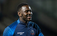 Bolton Wanderers' Aristote Nsiala warming up before the match <br /> <br /> Photographer Andrew Kearns/CameraSport<br /> <br /> The Premier League - Leicester City v Aston Villa - Monday 9th March 2020 - King Power Stadium - Leicester<br /> <br /> World Copyright © 2020 CameraSport. All rights reserved. 43 Linden Ave. Countesthorpe. Leicester. England. LE8 5PG - Tel: +44 (0) 116 277 4147 - admin@camerasport.com - www.camerasport.com