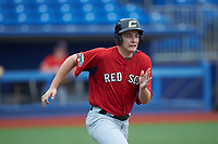 Tyler Howlett of Nansemond-Suffolk Academy (VA) playing for the Red Sox scout team during the South Atlantic Border Battle Futures Game at Truist Point on September 25, 2020 in High Pont, NC. (Brian Westerholt/Four Seam Images)