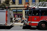 Rue McGill College, a l'heure du lunch, été 2011<br /> <br /> Photo : Agence Quebec Presse.
