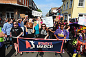 New Orleans women hit the streets of the French Quarter as they joined the The Women's March, a worldwide protest on January 21, 2017, to advocate legislation and policies regarding human rights and other issues, including women's rights, immigration reform, healthcare reform, reproductive rights, the natural environment, LGBTQ rights, racial equality, freedom of religion nd workers' rights.  It was the largest single-day protest in U.S. history