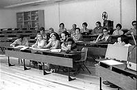 ARCHIVE -<br /> Classe a l'universite, date inconnue, vers 1970<br /> <br /> Photo : Agence Quebec Presse  - Alain Renaud