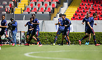 GUADALAJARA, MEXICO - MARCH 18: U-23 USMNT warming up during a game between Costa Rica and USMNT U-23 at Estadio Jalisco on March 18, 2021 in Guadalajara, Mexico.