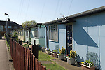 Prefab housing Catford South London borough of Lewisham. Excalibur Estate. The largest estate of Prefabs in the UK nearly 200 in total.