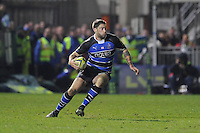 Matt Banahan of Bath Rugby in action during the LV= Cup semi final match between Bath Rugby and Leicester Tigers at The Recreation Ground, Bath (Photo by Rob Munro, Fotosports International)