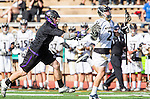 San Diego, CA 05/25/13 - Colin  Pennington (Westview #21) and Spencer Beyer (Carlsbad #1) in action during the 2013 Boys Lacrosse San Diego CIF DIvision 1 Championship game.  Westview defeated Carlsbad 8-3.
