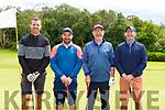 John Brennan, Jason McCArthy, Joe McCArthy and John Herlihy all CAstleisland enjoying a round of golf in Killarney Golf and Fishing club on Sunday