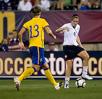 Heather O'Reilly, Lina Nilsson. The USWNT defeated Sweden, 3-0.