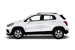 Car driver side profile view of a 2020 Chevrolet Trax LT 5 Door SUV