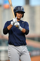 Staten Island Yankees infielder Fu-Lin Kuo (61) during game against the Brooklyn Cyclones at MCU Park on June 18, 2012 in Brooklyn, NY.  Brooklyn defeated Staten Island 2-0.  Tomasso DeRosa/Four Seam Images