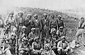 Iraq 1976 .A group of peshmergas in Iraqi Kurdistan  .Irak 1976 .Un groupe de peshmergas au Kurdistan irakien