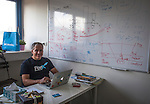 Uri Levine Co-Founder and Chairman of Feex an Israeli start up company and former Waze navigation application Founder at his office in Hertzelia Wednesday Sept 29 2015.  Photo by Eyal Warshavsky.