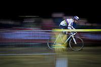 CX World Champion Wout Van Aert (BEL/Cibel-Cebon) speeding along<br /> <br /> men's race<br /> 44th Superprestige Diegem (BEL) 2018<br /> ©kramon