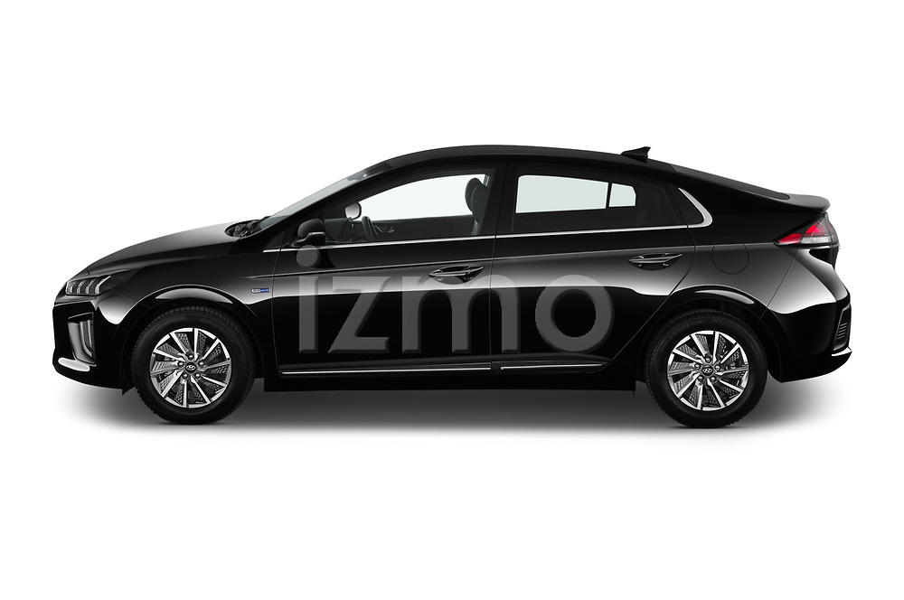 Car Driver side profile view of a 2020 Hyundai Ioniq-Electric Shine 5 Door Hatchback Side View