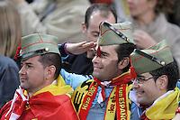 Spain's national team fans during match. October 16, 2012. (ALTERPHOTOS/Alvaro Hernandez) /NORTEPhoto