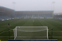 General view of  a misty, foggy day at Gillingham FC during Gillingham vs Exeter City, Emirates FA Cup Football at the MEMS Priestfield Stadium on 28th November 2020