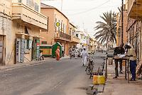 Senegal, Saint Louis.  Street Scene.  Colonial Era Houses.