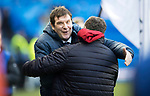 Rangers v St Johnstone…16.12.17…  Ibrox…  SPFL<br />Tommy Wright is greeted by Graeme Murty<br />Picture by Graeme Hart. <br />Copyright Perthshire Picture Agency<br />Tel: 01738 623350  Mobile: 07990 594431