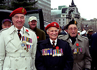 FILE PHOTO - veterans and soldier on November 11, 2004<br /> <br /> PHOTO : Agence quebec Presse