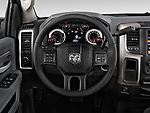 Steering wheel view of a 2013 Dodge RAM 1500 Big Horn Crew Cab