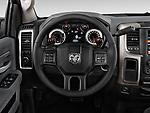 Steering wheel view of a 2013 Dodge RAM 1500 Big Horn Crew Cab