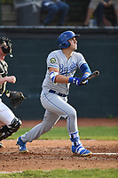 Burlington Royals Vinnie Pasquantino (33) bats during a game with the Bristol Pirates at Boyce Cox Field on June 19, 2019 in Bristol, Virginia. The Royals defeated the Pirates 1-0. (Tracy Proffitt/Four Seam Images)