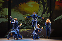 Boy Blue Entertainment perform THE FIVE AND THE PROPHECY OF PRANA at the Barbican theatre. Dancers are: Michele 'Paleta' Rhyner, Bradley 'Bradz' Charles, Theo 'Godson' Oloyade, Kofi 'Klik' Mingo, Xena Gusthart, Vicky 'Skytilz' Mantey, Duwane Taylor, Kayla Lomas-Kirton, shaun Smith, Hakim Saber and Jumar Aben. Picture shows: Theo 'Godson' Oloyade,  Bradley 'Bradz' Charles, Kofi 'Klik' Mingo, Vicky 'Skytilz' Mantey, Xena Gusthart.  Photograph © Jane Hobson.