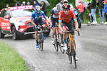 Gino Mäder (SUI) Bahrain Victorious in the breakaway during Stage 6 of the 2021 Giro d'Italia, running 160km from Grotte di Frasassi to Ascoli Piceno (San Giacomo), Italy. 13th May 2021.  <br /> Picture: LaPresse/Fabio Ferrari | Cyclefile<br /> <br /> All photos usage must carry mandatory copyright credit (© Cyclefile | LaPresse/Fabio Ferrari)