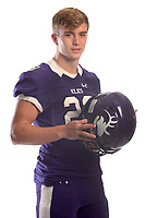 NWA Democrat-Gazette/ANDY SHUPE<br /> Elkins' Quinn McClain is the Northwest Arkansas Democrat-Gazette Division II Football Offensive Player of the Year. Wednesday, Dec. 12, 2018.