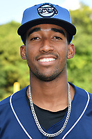Asheville Tourists shortstop Cristopher Navarro (11) before a game against the Charleston RiverDogs at McCormick Field on August 15, 2019 in Asheville, North Carolina. The Tourists defeated the RiverDogs 6-3. (Tony Farlow/Four Seam Images)