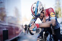 Bob JUNGELS (LUX/Deceuninck-Quick Step) post-finish<br /> <br /> Stage 7: Nice to Col de Turini (181km)<br /> 77th Paris - Nice 2019 (2.UWT)<br /> <br /> ©kramon