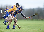 Shane Golden of  Sixmilebridge  in action against James Mc Inerney of Newmarket during their Clare Champion Cup final at Clonlara. Photograph by John Kelly.