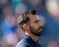 FOXBOROUGH, MA - MARCH 7: Jonathan Bornstein #3 of Chicago Fire during a game between Chicago Fire and New England Revolution at Gillette Stadium on March 7, 2020 in Foxborough, Massachusetts.