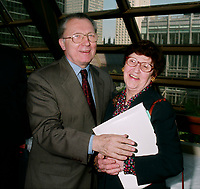 May 1998 - Jacques Delors<br /> <br /> PHOTO :  Agence Quebec Presse