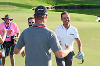 May 2nd 2021; The Woodlands, Texas, USA;  Mike Weir is congratulated after winning the 2021 Insperity Invitational at The Woodlands Country Club on May 2, 2021 in The Woodlands, Texas.