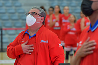 staff member Puerto Rico pictured before a basketball game between Nigeria and Puerto Rico on Friday 28 th of May 2021 in Kortrijk , Belgium . PHOTO SPORTPIX.BE | SPP | STIJN AUDOOREN