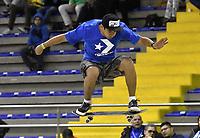 BOGOTA - COLOMBIA - 12 - 08 - 2017: Nelson Garza, Skater de Mexico, durante competencia en el Primer Campeonato Panamericano de Skateboarding, que se realiza en el Palacio de los Deportes en la Ciudad de Bogota. Nelson Garza, Skater from Mexico, during a competitions in the First Pan American Championship of Skateboarding, that takes place in the Palace of Sports in the City of Bogota. Photo: VizzorImage / Luis Ramirez / Staff.
