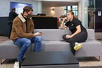 Belgium's goalkeeper Belgian Justien Odeurs pictured during an interview at after the qualifying group stage draw for FIFA Women's World Cup 2023, at Royal Belgian   . PHOTO: SPORTPIX.BE   SPP   SEVIL OKTEM
