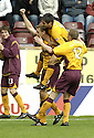 29/09/2007       Copyright Pic: James Stewart.File Name : sct_jspa06_motherwell_v_rangers.Motherwell's Chris Porter is congratulated after he scores the opener.....James Stewart Photo Agency 19 Carronlea Drive, Falkirk. FK2 8DN      Vat Reg No. 607 6932 25.Office     : +44 (0)1324 570906     .Mobile   : +44 (0)7721 416997.Fax         : +44 (0)1324 570906.E-mail  :  jim@jspa.co.uk.If you require further information then contact Jim Stewart on any of the numbers above........