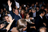 FILE PHOTO -  Jacques Parizeau durant<br /> La campagne du referendum de1995<br /> <br /> PHOTO : Pierre Roussel<br />  - Agence Quebec Presse