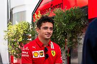 9th September 2021; Nationale di Monza, Monza, Italy; FIA Formula 1 Grand Prix of Italy, Driver arrival and inspection day:  Charles Leclerc MON, Scuderia Ferrari Mission Winnow