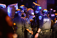 Washington, DC - June 1, 2020: Patrick Oliver Green is arrested by police as protesters gather at 15th & Swann St. NW, Washington, DC  June 1, 2020, in the wake of the death of George Floyd by a Minnesota police officer.  (Photo by Don Baxter/Media Images International)