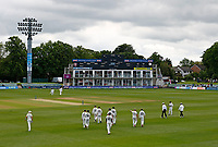 The players take to the field during Kent CCC vs Northamptonshire CCC, LV Insurance County Championship Group 3 Cricket at The Spitfire Ground on 5th June 2021