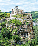 The Château de Belcastel (not to be confused with the castle of the same name further south on the Aveyron) is a private residence located adjacent to the village of Lacave, departement of Lot, near Rocamadour, France.