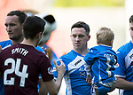 St Johnstone v Hearts 17.05.17     SPFL    McDiarmid Park<br />Danny Swanson pictured wkth his son Roman<br />Picture by Graeme Hart.<br />Copyright Perthshire Picture Agency<br />Tel: 01738 623350  Mobile: 07990 594431